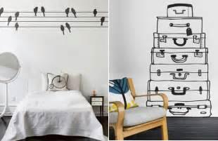 Sticker Wallpaper Dinding Kamar Romantis 24 Cool Wallpaper Stickers Ideas For Creative Interiors Freshome