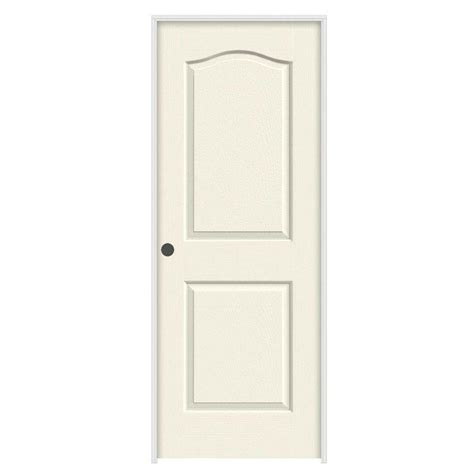 Composite Interior Doors Jeld Wen 24 In X 80 In Molded Textured 2 Panel Eyebrow Vanilla Hollow Composite