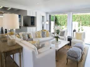 decoration beach style living rooms with white sofa