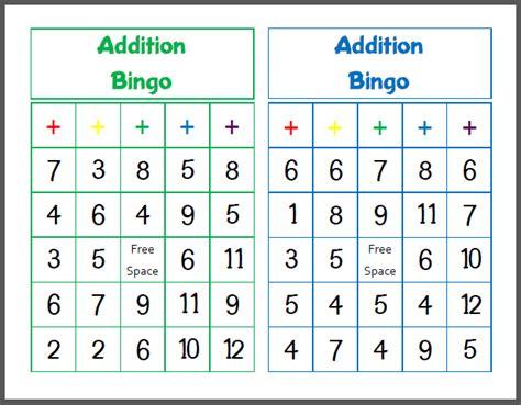 printable math bingo games for kindergarten printable addition bingo math school and homeschool