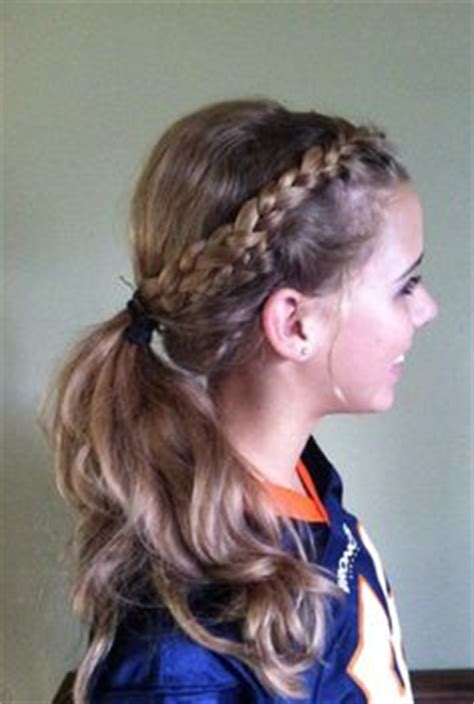 game day on pinterest ponytail hairstyles braided