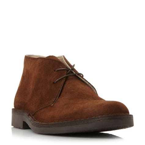 loake suede desert boots in brown for lyst