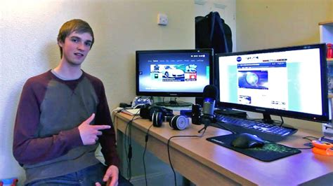 how to make a gaming setup ali a s gaming setup room tour epic setup youtube