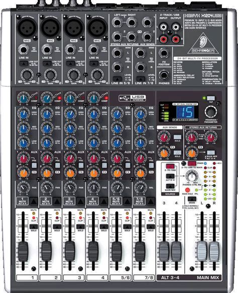 Mixer Behringer Xenyx X1204 Usb behringer x1204 usb 12 input 2 2 mixer with efx and