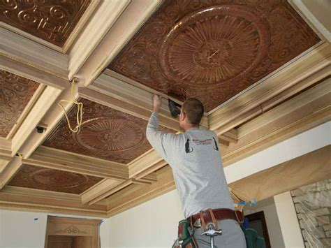 Coffered Ceiling Construction Bloombety Building Easy And Elegance Coffered Ceiling