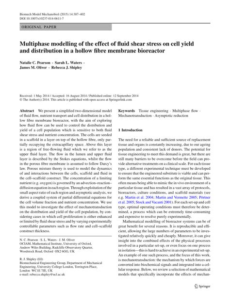 multiphase modelling   effect  fluid shear