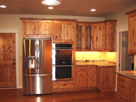 knotty alder wood kitchen cabinets popular