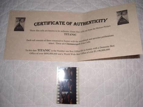 titanic film uk certificate movie memorabilia titanic 35mm film frames leonardo