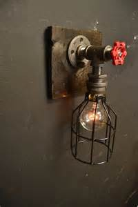 Steampunk Wall Sconce 6 27 15 Steampunk Fixture Wood Industrial Light Wall Lamp