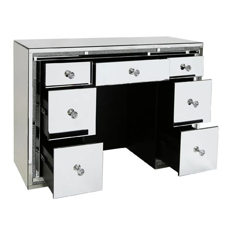 mirrored dressing table with drawers mirrored 7 drawer dressing table with swarovski crystals