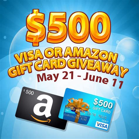 500 Dollar Amazon Gift Card - enter to win visa gift card or amazon gift card worth 500