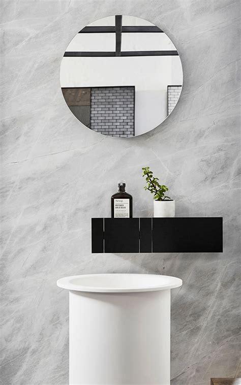 Impressionnant Une Belle Salle De Bain #1: miroir-rond-salle-de-bain-vasque-ronde.jpg