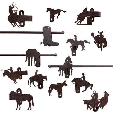 cowboy curtain rods cowboy burnt copper curtain rod holder nursery kids