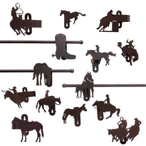 western curtain rods cowboy burnt copper curtain rod holder nursery kids