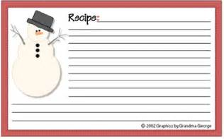 Free Christmas Recipe Card Template 10 Best Images Of Editable Printable Recipe Card Template