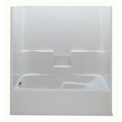 Left Drain Shower Kit by Aquatic Everyday Smooth Tile 72 In X 36 In X 76 In 1