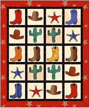 free printable cowboy quilt patterns free pattern quilts pinterest