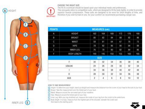 Size Chart Sac Competition Swimwear arena powerskin carbon pro swim racing swimming competition suit swimwear ebay