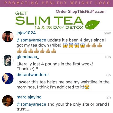 Slim Detox Tea Somaya Reese by Check Our Customer Results Get 10 Our Weight Loss