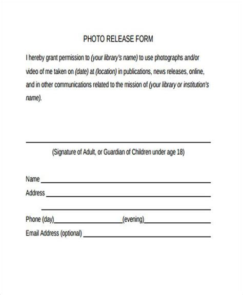 8 media release form template protect letters standa vawebs