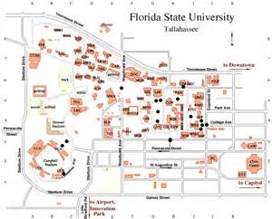 University Of Florida Campus Map by Gallery For Gt Florida State University Campus Map