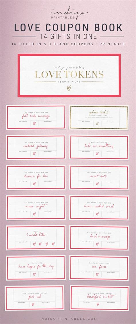 free printable love coupons for s day