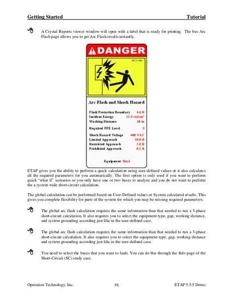 Arc Flash Report Template Acrobat Document