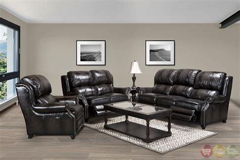 sm sofa set parker living twain black top grain leather reclining sofa