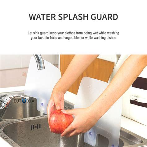 splash paddy set of 2 sink splash guards qvc com kitchen sink splash guard weifeng furniture