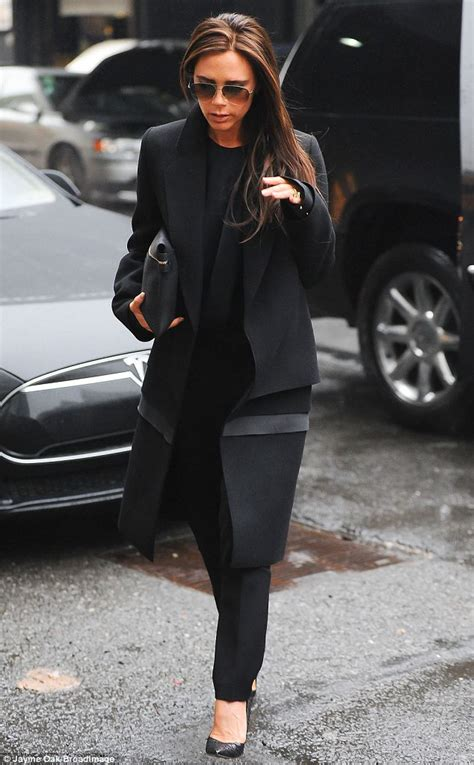 Guest Bathrooms Ideas by Victoria Beckham Wows In A Sleek Structured Black