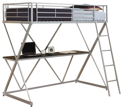 dhp loft bed dhp x shaped twin metal loft bunk bed in silver