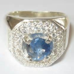 Cincin Perak 925 Sapphire Quartz koleksi cincin pria dengan model terupdate