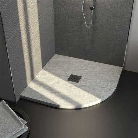 piatto doccia rotondo piatto doccia in pietra sintetica ardesia 90x90 ad angolo