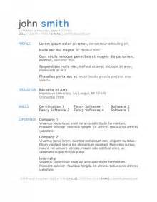 free resume template for openoffice 2 - Resume Templates For Openoffice Free
