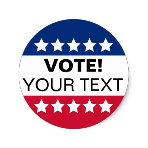printable voting stickers vote sticker zazzle
