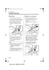 Q Es Resume Accel by Clock Setting 2003 Mazda Protege Support