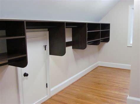 slanted ceiling closet atlanta closet storage solutions sloped ceilings