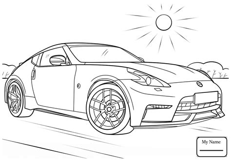 370z Coloring Page by Nissan 370z Coloring Pages Coloring For 2018