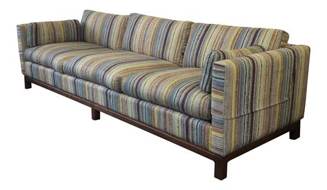 colored sofas mid century multi colored sofa chairish
