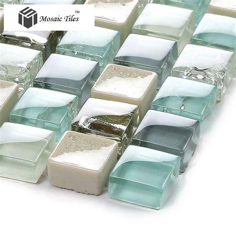 aqua glass tile bathrooms tst crystal glass tile blue aqua mosaic porcelain chips
