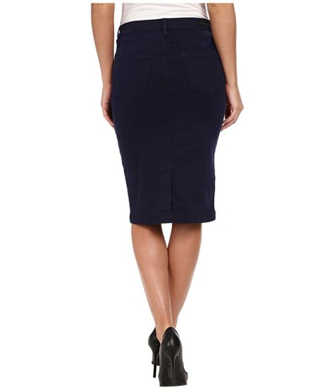 blank nyc navy blue pencil skirt midnight blue 6pm