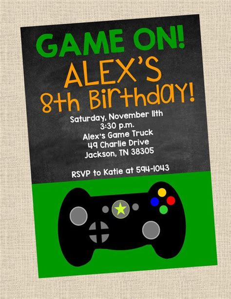 free printable xbox birthday invitations 17 best images about party ideas for my teenager on