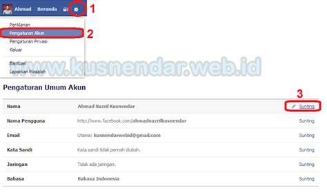 cara membuat nama korea dari nama asli cara ganti nama profil facebook dan munculin nama asli