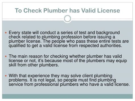 Plumbing Licence Check ppt essential tips for hiring professional plumbers