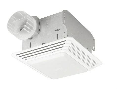 Broan Cfm Ceiling Exhaust Bath Fan With Heater The Home Depot Lights And Ls 50 Cfm Broan Ventilation Fan Light Combo Bathroom Ceiling Toilet Vent New Ebay