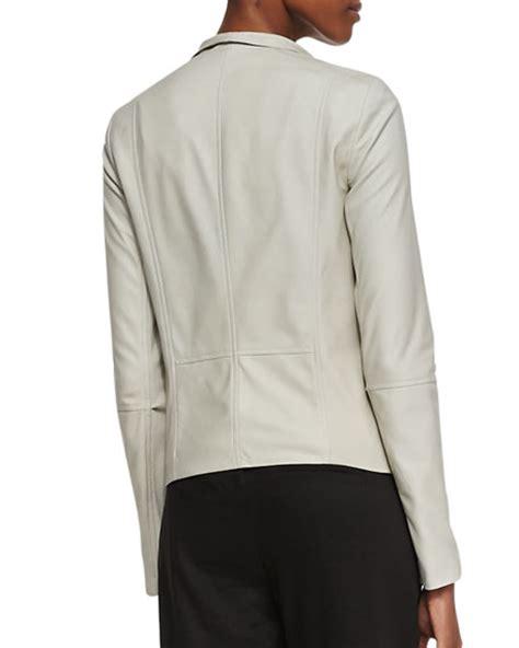 vince drape front leather jacket vince drape front open leather jacket