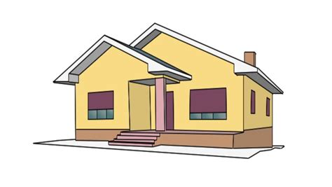 house animated drawing of a house stock footage video 3450041 shutterstock