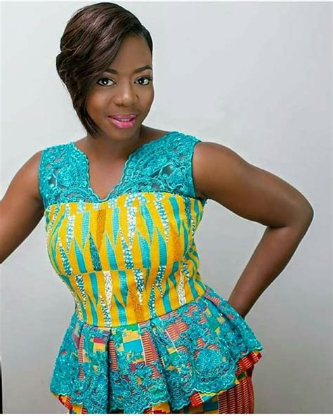 Nelsa Blouse 1501 best images about style it in kente on fashion style ankara and