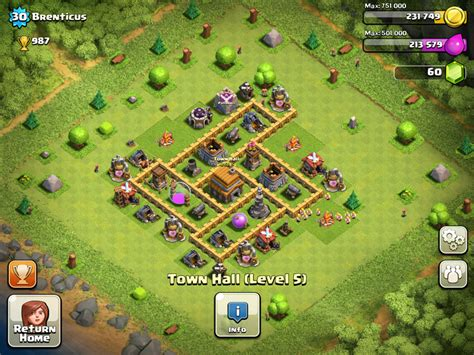 layout coc town hall level 4 layouts clash of clans