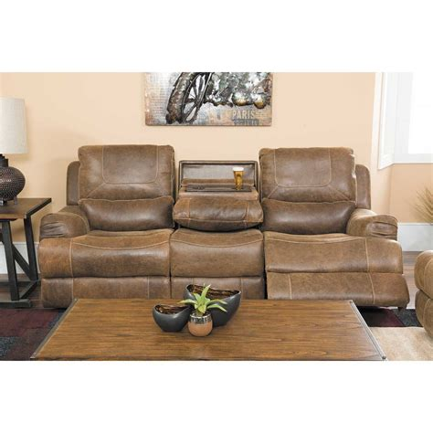 leather power reclining console loveseat 1d